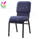 Yc-G34 Nigeria Daystar Modern Rental Stackable Metal Cheap Used Pulpit Church Chair Wholesale