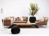 Hot Selling Europe-Style Garden Furniture Rattan Luxury Outdoor Rope Furniture Indoor Sofa Set