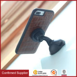 Genuine Leather Crocodile Grain Phone Case with Magnetic Bar Inside