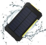 100% Full Charging by Sunlight Foldable Waterproof Solar Power Bank 10000mAh Portable Solar Charger with LED Light