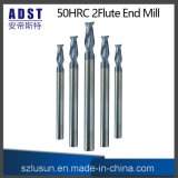 High Quality 50HRC 2flute Tungsten Steel End Mill Cutter
