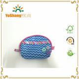 Microfiber Coin Purse Customized Logo Wallet Bag Fashion Lady′s Clutch Bag