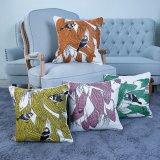 Digital Print Decorative Cushion/Pillow with Birds Pattern (MX-53)