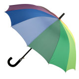 Outside Rainbow Printing Straight Umbrella (JS-066)