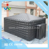 8X6m Inflatable Black Event Display Tent with Blower