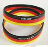 Striped Level Color Silicon Rubber Bracelet