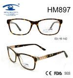 New Fashion Fancy Embossed Acetate Eyewear Frame (HM897)