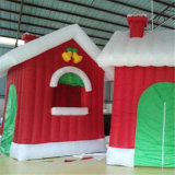 Customized Oxford Inflatable Christmas House Christmas Gift Decoration