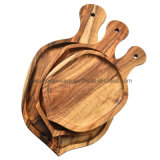 Factory Wholesale Natural Acacia Wood Tray Fruit Tray