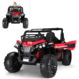 Red Ride on Car UTV Electric Car Offroad for Kids Toddles 2.4G Bluetooth R/C