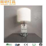 Clear Glass Bar LED Desk Lamp Tiffany Fabric Shade Table Lamp for Hotel Decoration