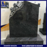 Cheap Antique Bahama Blue Granite Monument with Carving Flowers