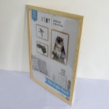 Wooden Gallery Art Carving Photo Painting Picture Box Stand Holder Frame Set for Wall