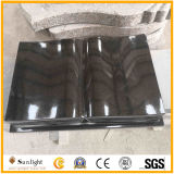 Shanxi Black Granite Book Style Tombstones for Cemetery