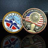 Wholesale Manufacturer Souvenir Engraving Metal Crafts Custom Navy Commemorative Logo Soft Enamel Metal 3D Gold Us Military Challenge Coins for Promotional Gift