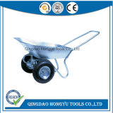 Zinc Plated Wb6211 Wheel Barrow with Double Wheel