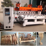 Multi Spindle 4axis Wood Rotary CNC for Sofa Legs, Handrails