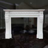 Classic White Marble Fireplace with Good Hand-Carved Quality, Competitive Price