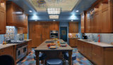 Affordable Classical Red Cherry Wood/ Plywood Kitchen Cabinet with Custom Kitchen Cabinet Design