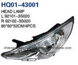 Head Lamp with Yellow Colour or White Colour for Sonata 2011.