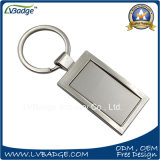 Promotional Souvenir Rectangle Shape Metal Key Chain for Advertising