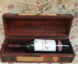 Vintage Single Wooden Wine Box Packing Box Wine Gift Box