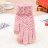 Hot Fashion Factory Wholesale Cheap Warm Knitted Custom Cute Funny Winter Women Knitted Wool Gloves
