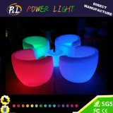 Lounge Furniture Light up Plastic LED Sofa