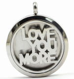 """Love You More"" 316L Stainless Steel Perfume Diffuer Locket Pendant"