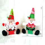 Home Decorative Novelties of 2019 Christmas Decorations Gifts Supplies Christmas Sitting Santa Claus Snowman Dolls