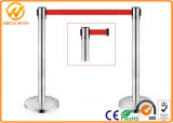 Stainless Steel Customized Retractable Belt Queue Post Stand Barrier