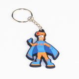 Custom Cheap 2D 3D Metal Leather Silicone Silicon Soft Rubber PVC Key Chain Keychain for Promotion Gift
