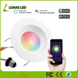 15W E26 6 Inch Recessed Lighting Smartphone Controlled WiFi Retrofit Downlights