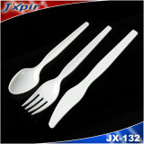 Disposable Plastic Set of Cutlery with Soup Spoon