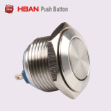 Hban Ce RoHS (19mm) Flat Round Momentary Metal Push Button Switch