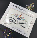 Hongkong Topaz Supplier Skin Safe Party Eye Stickers Operate Face Gems Rhinestone Body Jewels Face Tatto Stickers (ES002)
