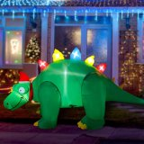 5FT Inflatable Christmas Stegosaurus LED Flashing Lighting Blow up Lighted Decor Indoor Outdoor