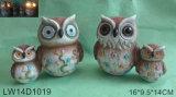 Resin Owl Solar Light for Garden Decoration