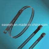 Epoxy Coated Stainless Steel Ladder Cable Ties (Single Barb Lock)