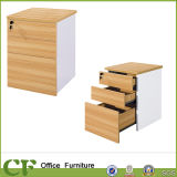 3 Drawers Mobile Pedestal Wooden Office Cabinet