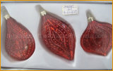 Three Styles Glass Crafts for Christmas Decoration