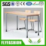 Classroom Furniture Double Student Desk and Chair Sets (SF-124D)