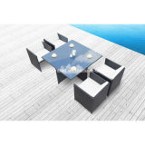 Hot! Outdoor Rattan Dining Set for Garden with Four Chairs (8219-2)
