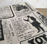Wholesale Industrial Times Newspaper Printed Fabric Linen Cotton Fabric for Tablecloth and Curtain