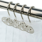Stainless Metal Shower Hooks for Bathroom Curtain Sliding