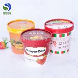 High Quality Biodegradable Compostable Single Wall Disposable Ice Cream Paper Cup with Paper Lids