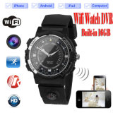 HD 720p WiFi P2p IP Watch Camera Mini Hidden Watch Cam with LED