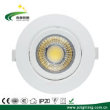 Anti-Glare LED COB 7W Spotlight Recessed Adjustable Spot Light Lamp Zhongshan Manufacturer Ceiling Indoor Lighting Downlight
