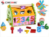 New Fashion Multi-Functional Wooden Toy Educational Toys DIY Assembly for Childs Blocks Digital Shape Geometric Room Puzzle Toy