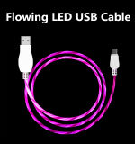 Flowing USB Cable Bright Brilliant LED Light up Charging Data Cable for Mobile Phones
